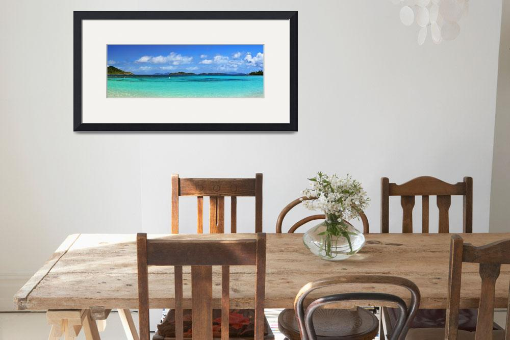 """Caribbean Beach Panorama&quot  (2015) by LukeMoore"