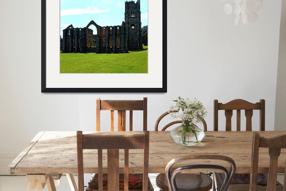 """Fountains Abbey in Summer 13&quot  (1990) by PriscillaTurner"