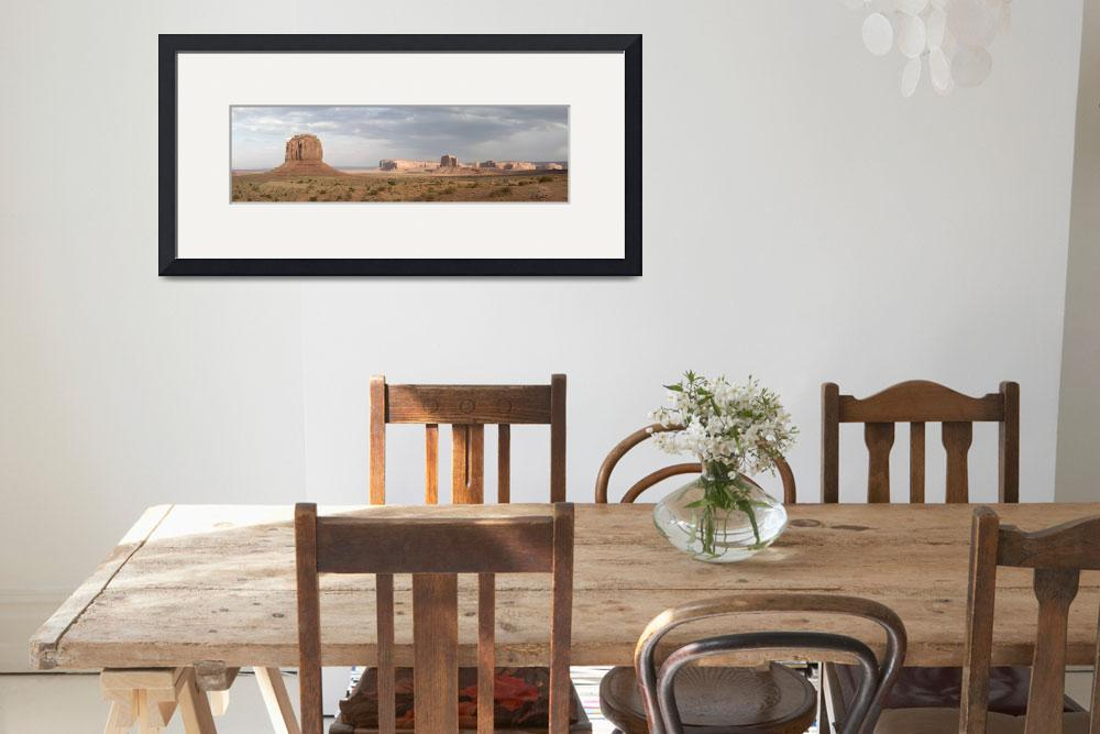 """Stormy Sunset Monument Valley Panorama&quot  (2009) by miir"