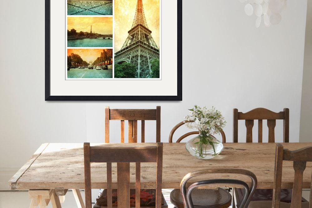 """Sights of Paris Collage&quot  by Groecar"
