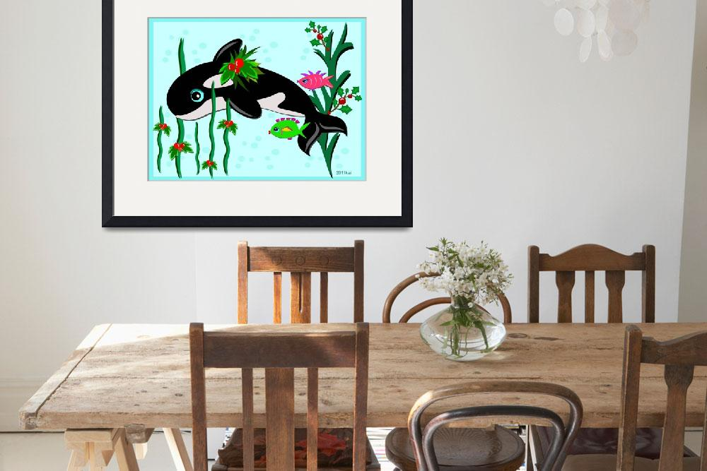 """Christmas Orca with Fish Friends&quot  (2011) by theblueplanet"