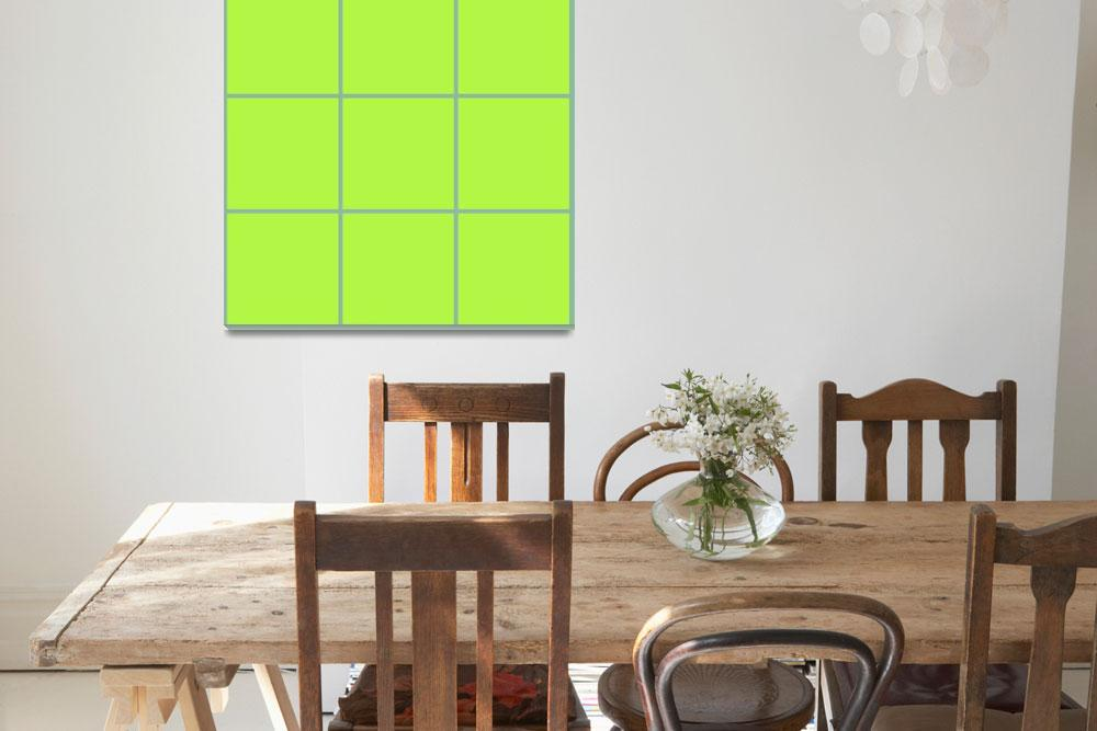 """Green Window 083 Canvas Contemporary Modern&quot  (2010) by Ricardos"