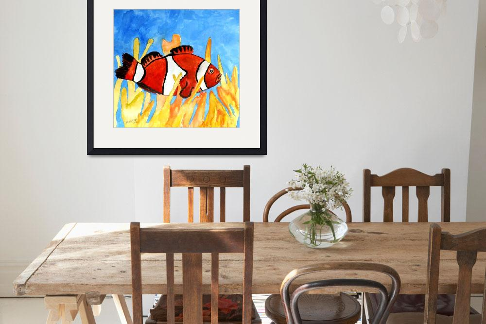 """clown fish aquatic sea life art print&quot  (2010) by derekmccrea"
