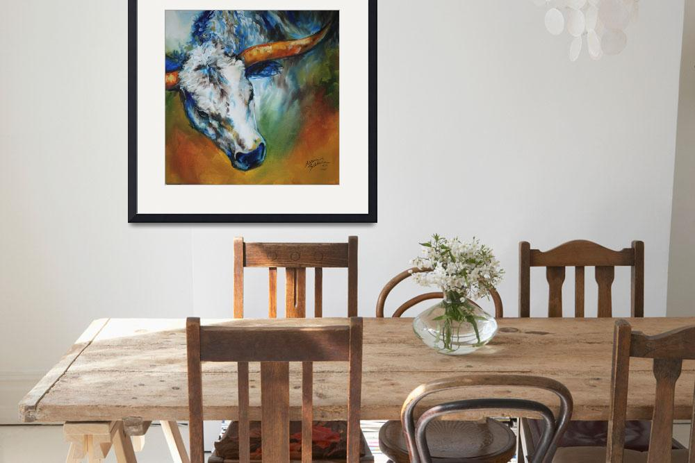"""TEXAS LONGHORN&quot  (2011) by MBaldwinFineArt2006"