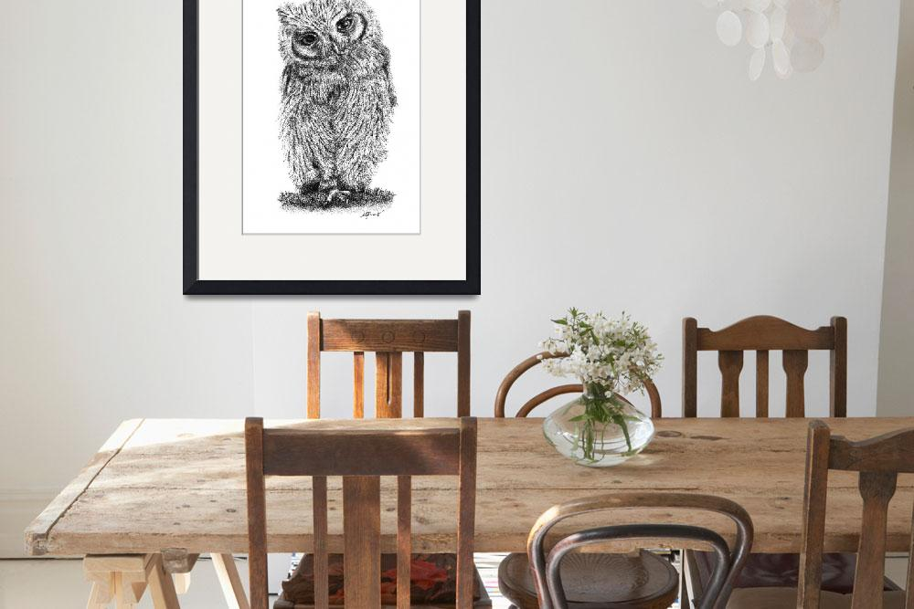 """Stippled Screech Owl&quot  (2014) by mgfrias"