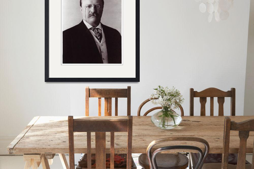"""Blue Bloods Teddy Roosevelt Portrait Print&quot  (1910) by limitededitionvintage"