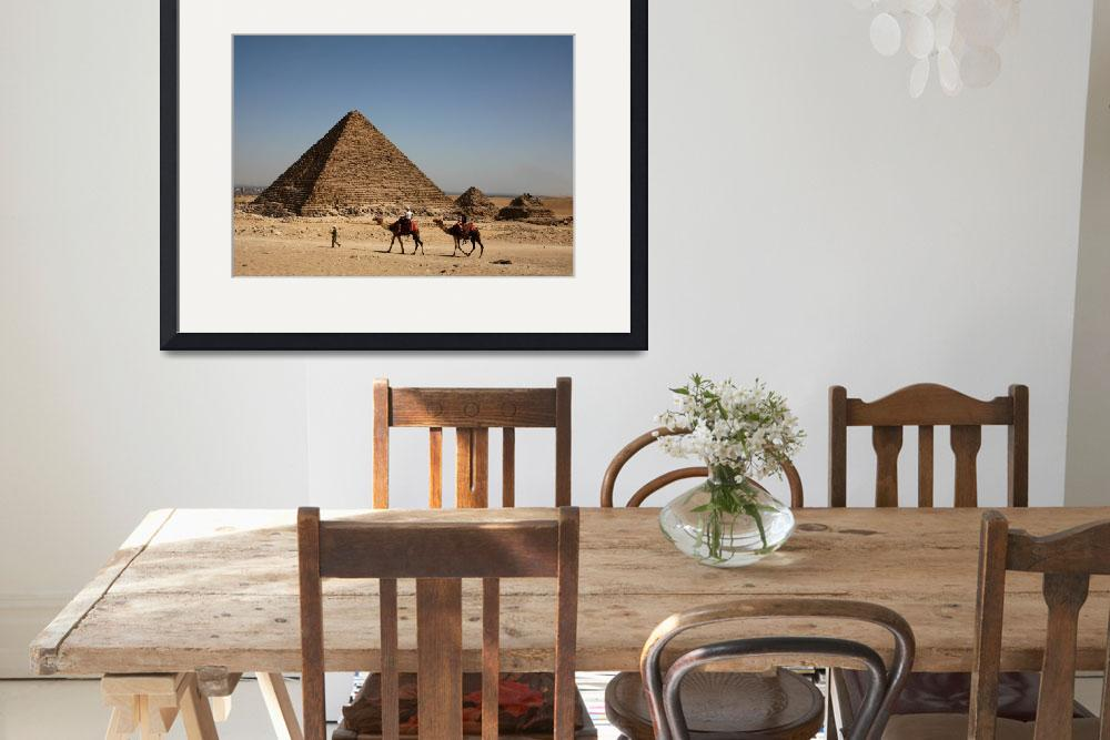 """Camel Ride at Giza Pyramids&quot  (2008) by DonnaCorless"