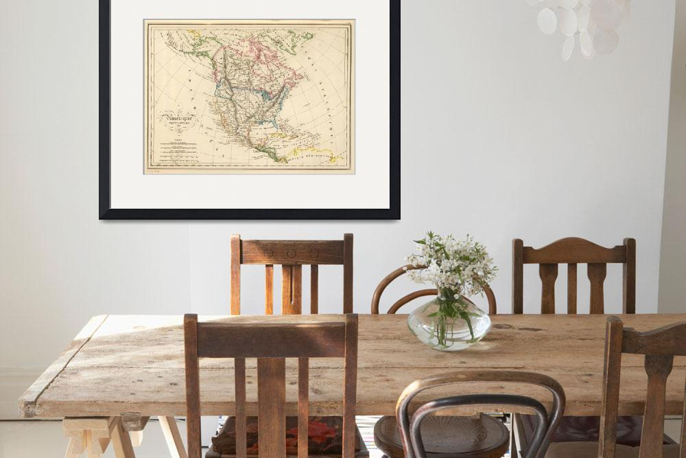 """Vintage Map of North America (1837)&quot  by Alleycatshirts"