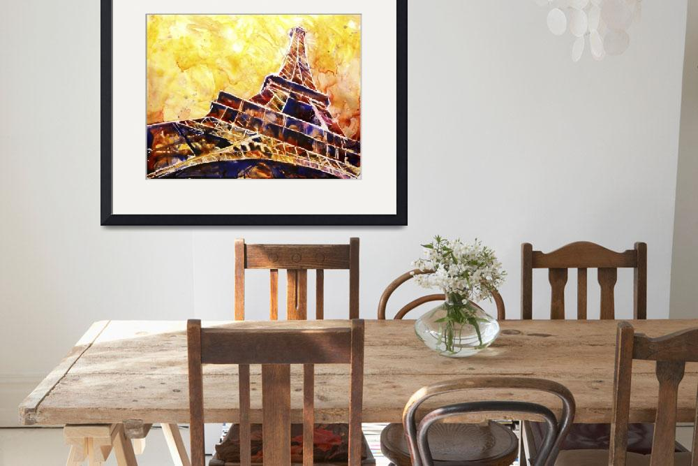 """Watercolor painting of Eiffel Tower in Paris, Fran&quot  (2016) by RFoxWatercolors"