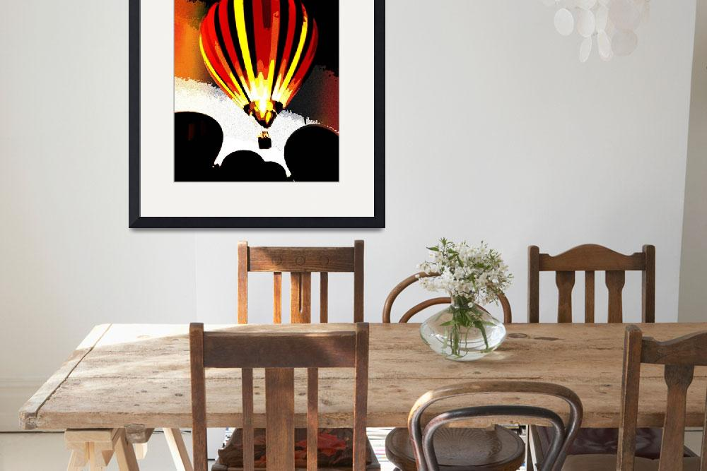 """Stripe  Hot Air Balloon Red 6&quot  (2012) by psovart"