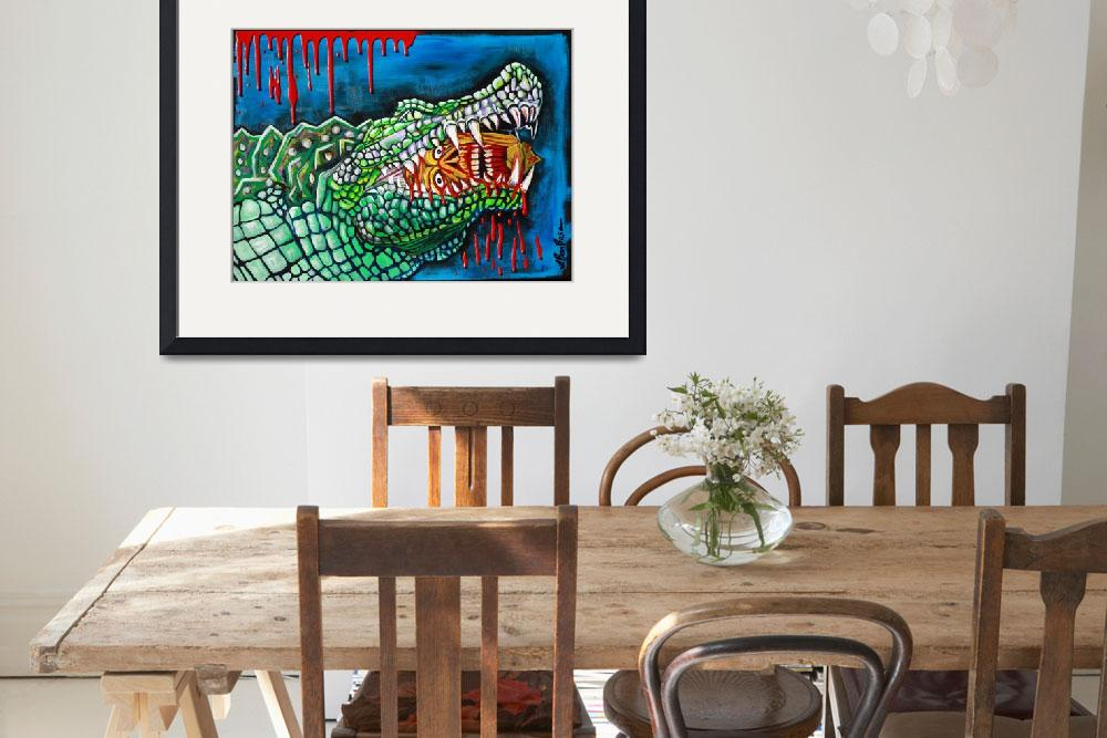 """Crocodile Lollipop&quot  (2012) by ArtPrints"