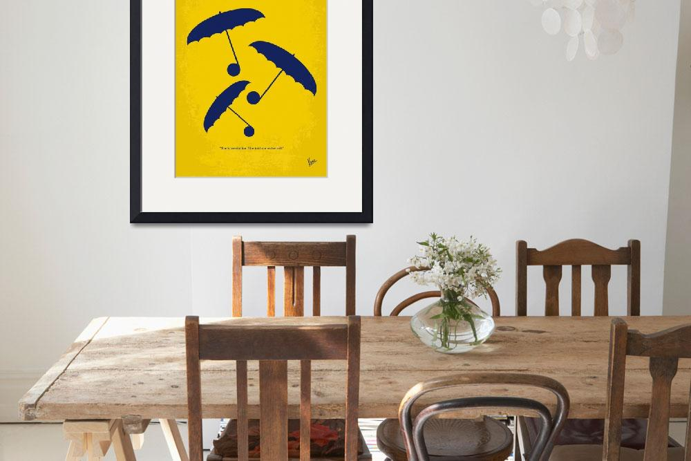 """No254 My SINGIN IN THE RAIN minimal movie poster&quot  by Chungkong"