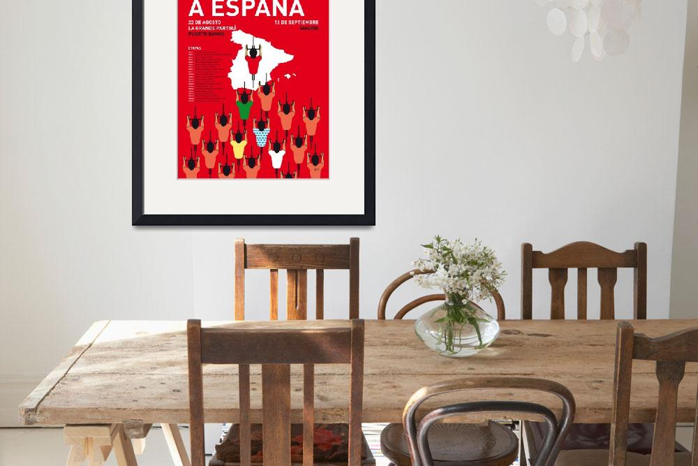 """MY VUELTA A ESPANA MINIMAL POSTER 2015&quot  by Chungkong"