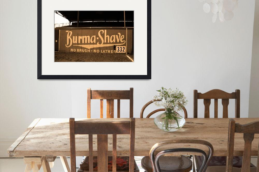 """Baseball Field & Burma Shave Sign&quot  (2004) by Ffooter"