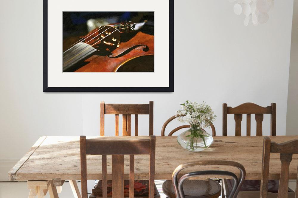 """Old Violin&quot  (2011) by WallArtDeco"