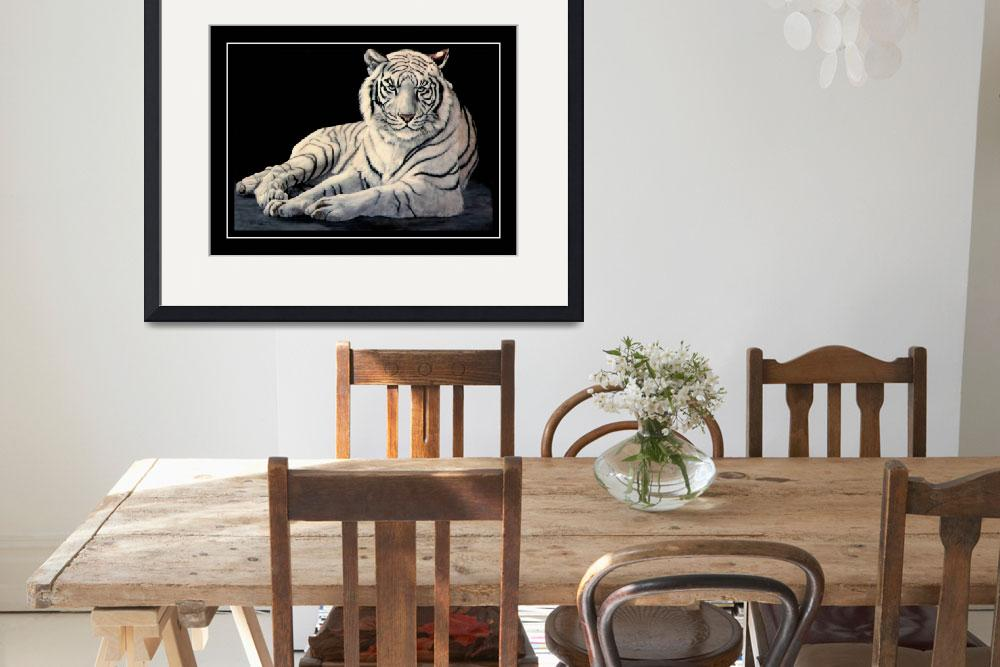 """The White Tiger    painting&quot  by AnimalsbyDiDi"