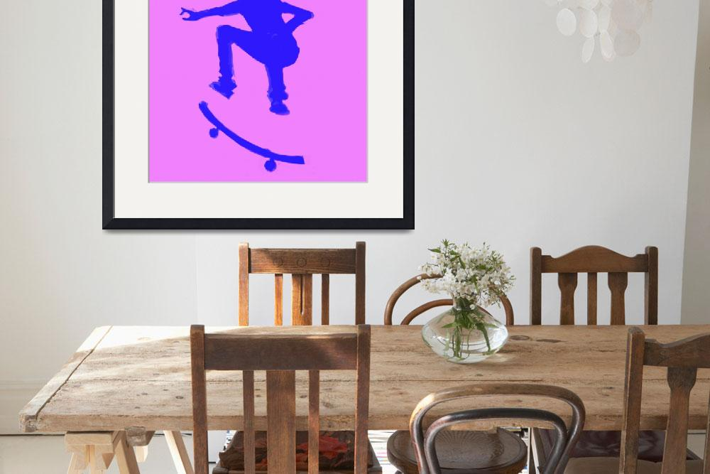 """Skateboarder 2 . purple blue violet (c)&quot  (2014) by edmarion"