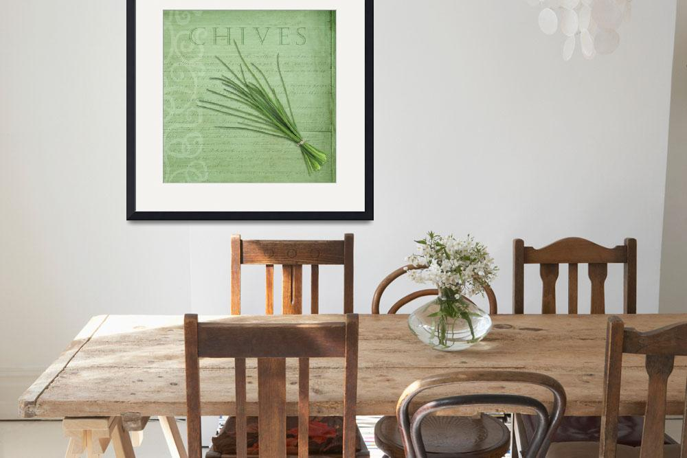 """Classic herbs series: Chives&quot  (2012) by CoraNiele"