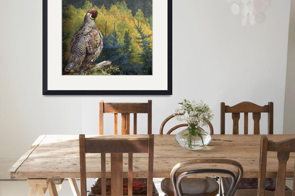 """spruce grouse northern maine&quot  (2014) by rchristophervest"