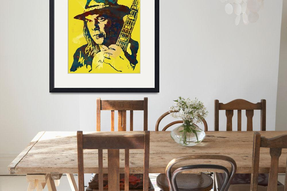 """neil young  Stylised Pop Art Drawing Potrait Poser&quot  (2014) by visualharbour"