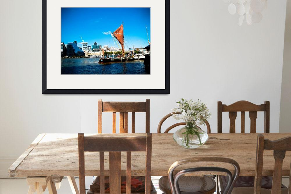"""Vibrant London: Sailboat on the Thames&quot  by SnowdonPhotography"