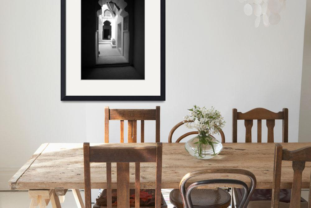"""Arched Doorway With Vases&quot  by DonnaCorless"