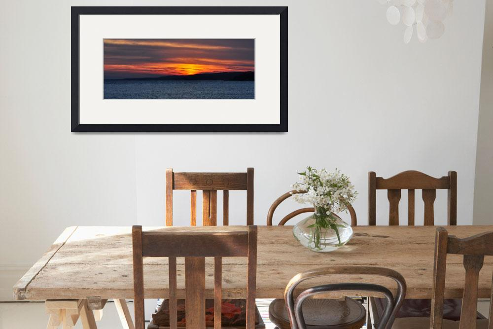 """Lake Superior Sunset&quot  (2012) by LJdesigns"