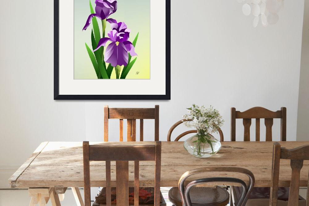 """Bearded Iris&quot  by waterart"