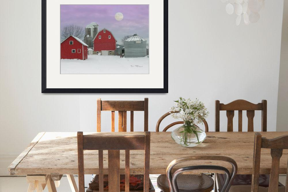 """Muelleners Farm by Moonlight&quot  (2007) by rtremblay"