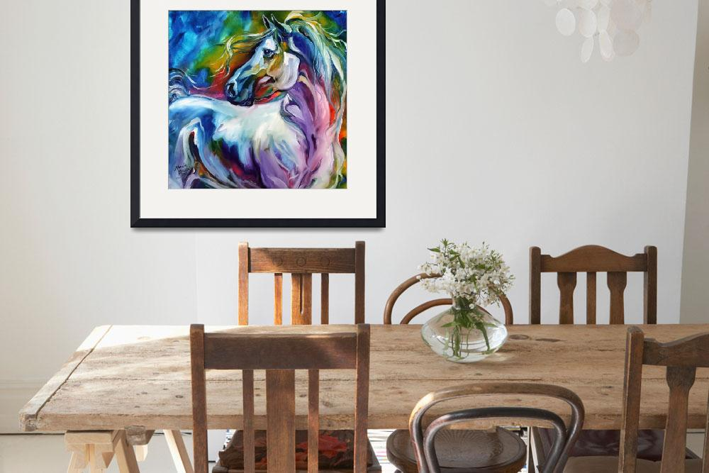 """MYSTIC POWER EQUINE&quot  (2012) by MBaldwinFineArt2006"