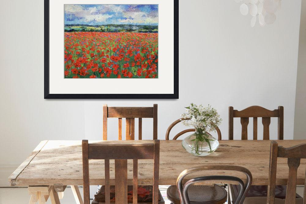 """Poppy Painting&quot  by creese"