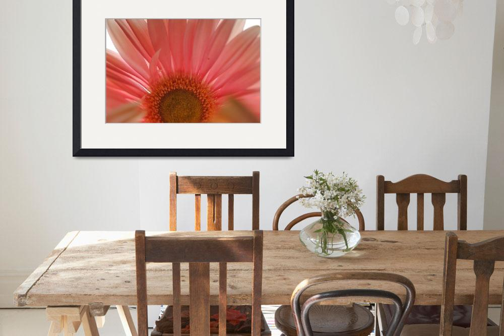 """Pastel Pink and Yellow Daisy Center&quot  by bloomingvinedesign"
