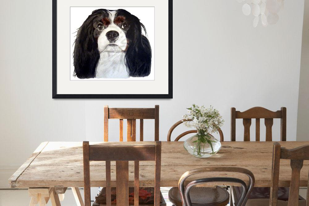 """Tri Color Cavalier King Charles Spaniel&quot  (2009) by CavalierArt"