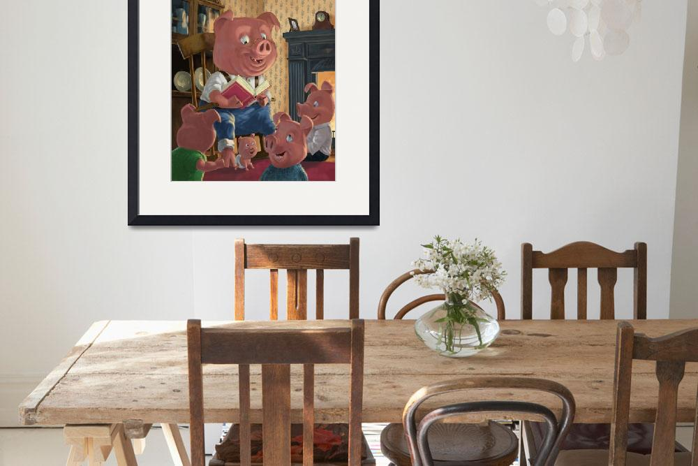 """story telling pig with family&quot  (2010) by martindavey"