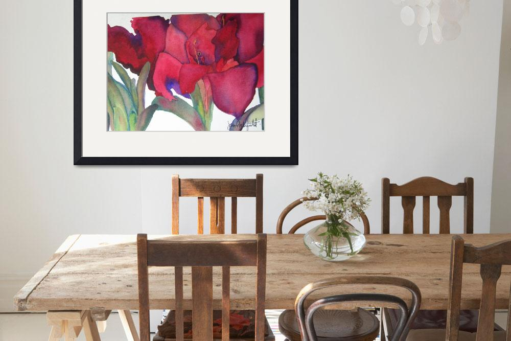 """Amaryllis 3&quot  by janporterfieldwatercolors"