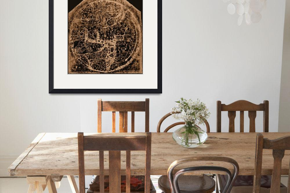 """Hereford Mappa Mundi 1300 Negative Image Brown Tan&quot  (2014) by TheNorthernTerritory"