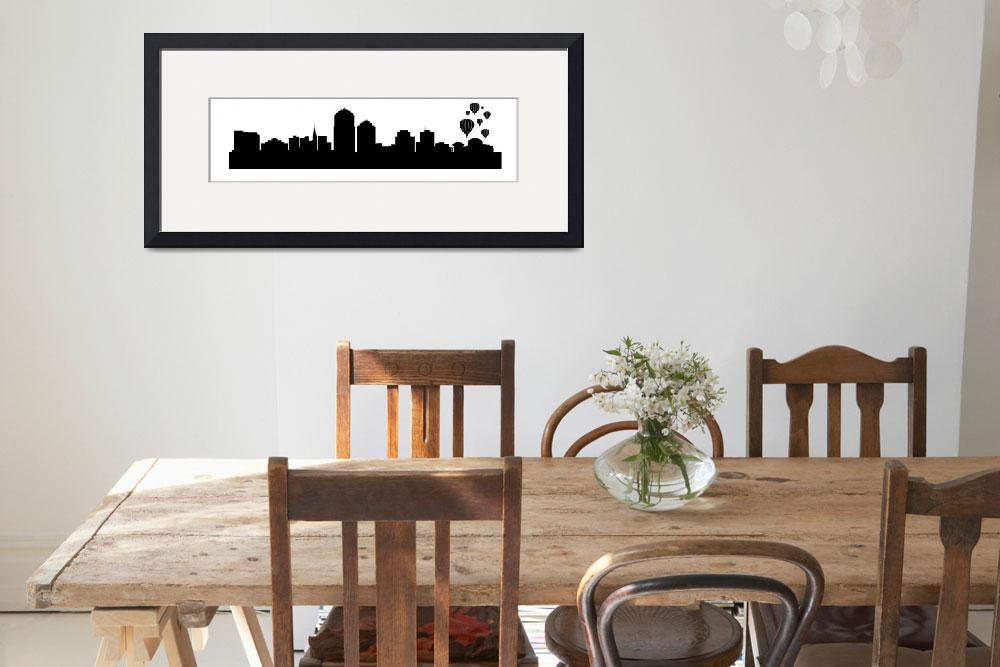 """Albuquerque Cityscape Skyline&quot  (2015) by KWGart"
