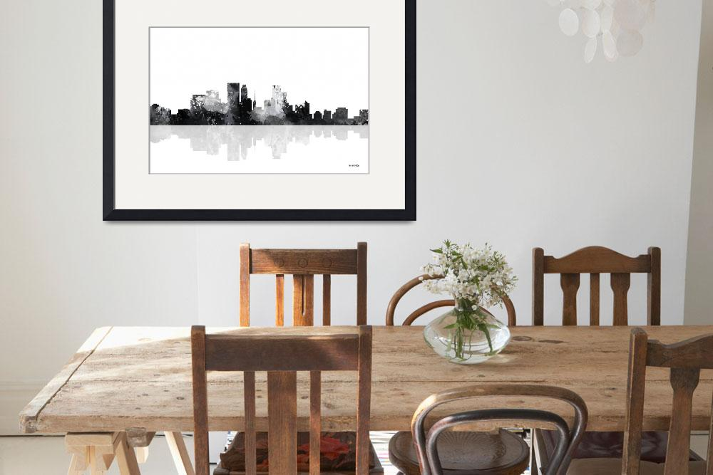 """Minneapolis Minnesota Skyline&quot  by MarleneWatson"