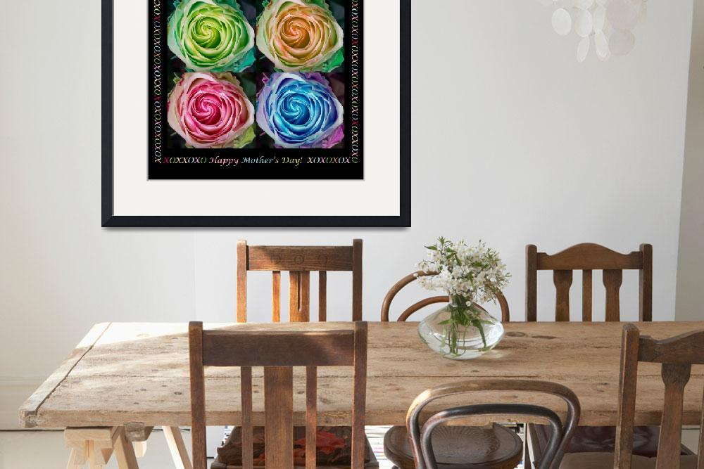 """Colorful Rose Spirals Happy Mothers Day Hugs and K&quot  (2013) by lightningman"