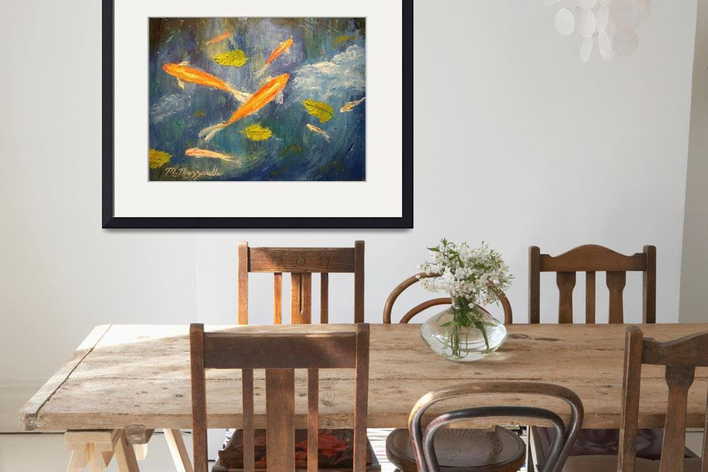 """Koi Pond Painting&quot  (2009) by mazz"