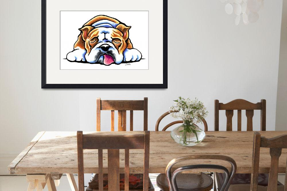 """Bulldog Being Adorable&quot  (2013) by OffLeashArt"