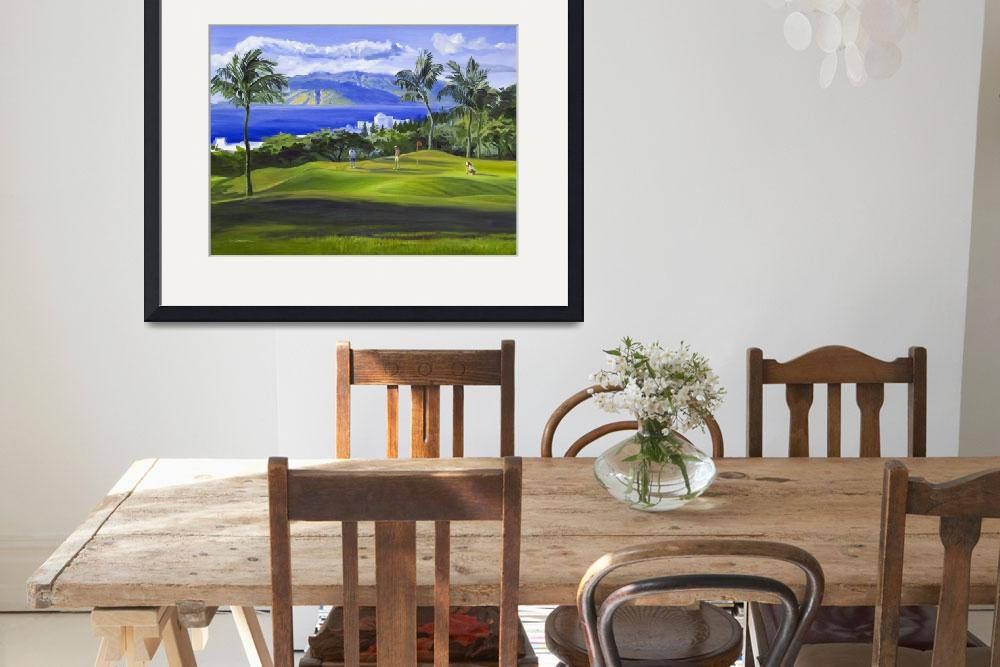 """Wailea, Maui, Hawaii Golf Fine Art Giclee Print&quot  (2008) by KeatingArt"