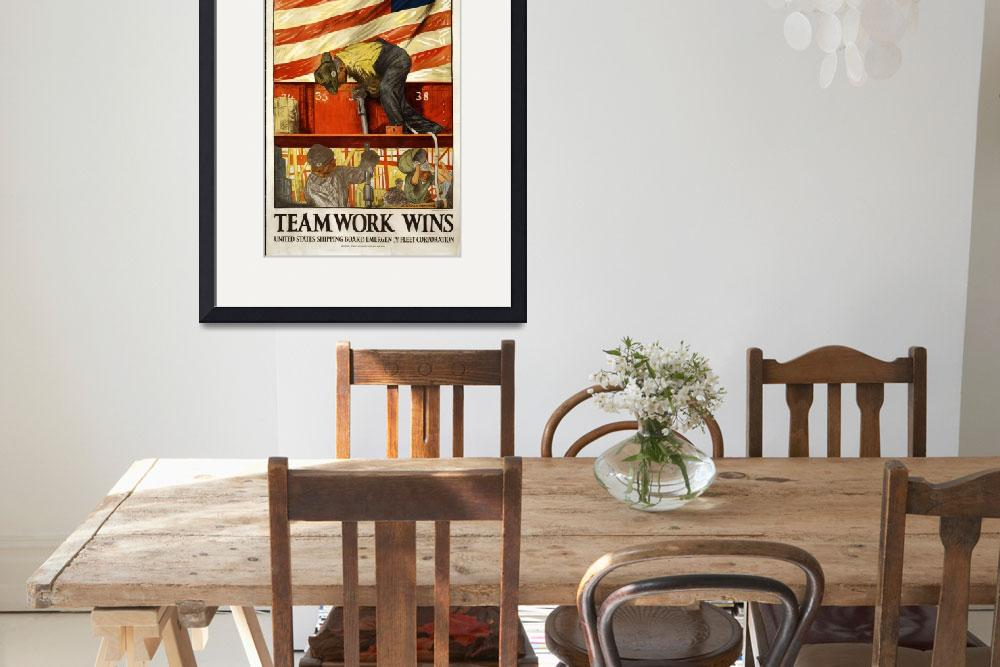 """WORLD WAR ONE INDUSTRIAL POSTER&quot  (1917) by homegear"