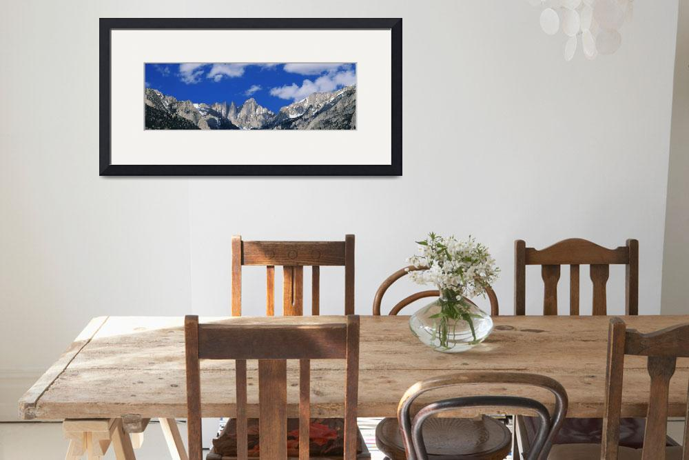 """Mount Whitney Sierra Mts CA&quot  by Panoramic_Images"