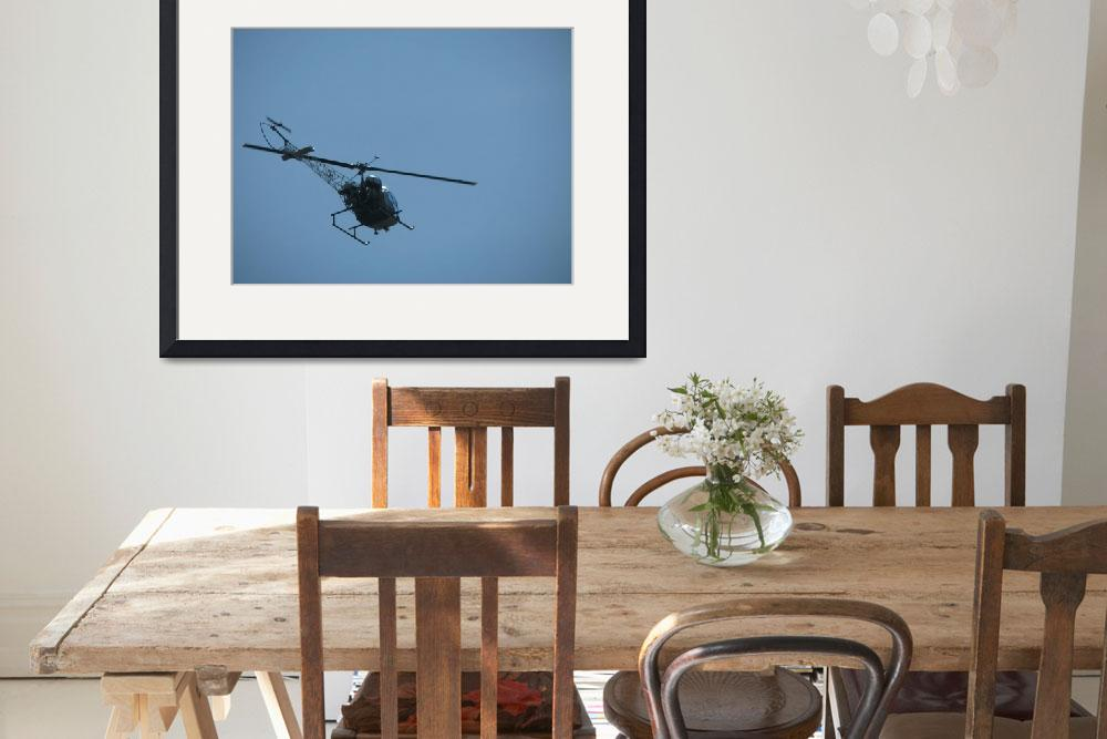 """Helicopter in Flight&quot  (2008) by alisonwest"
