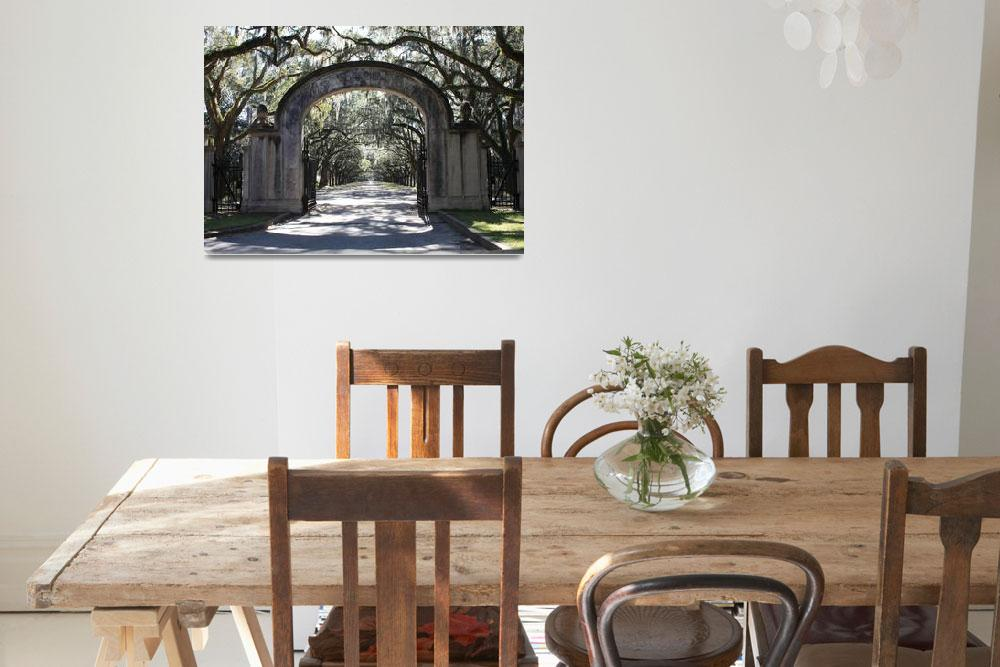 """Wormsloe Plantation Gate&quot  by Groecar"