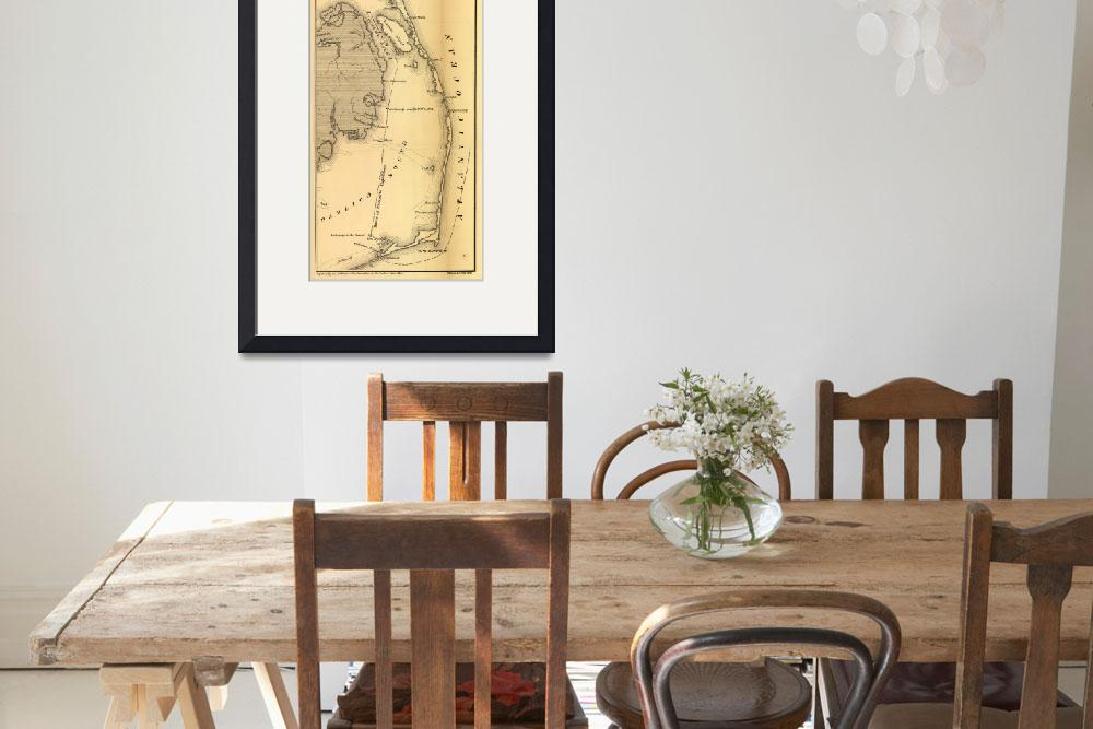 """Vintage Map of The Outer Banks (1862)&quot  by Alleycatshirts"