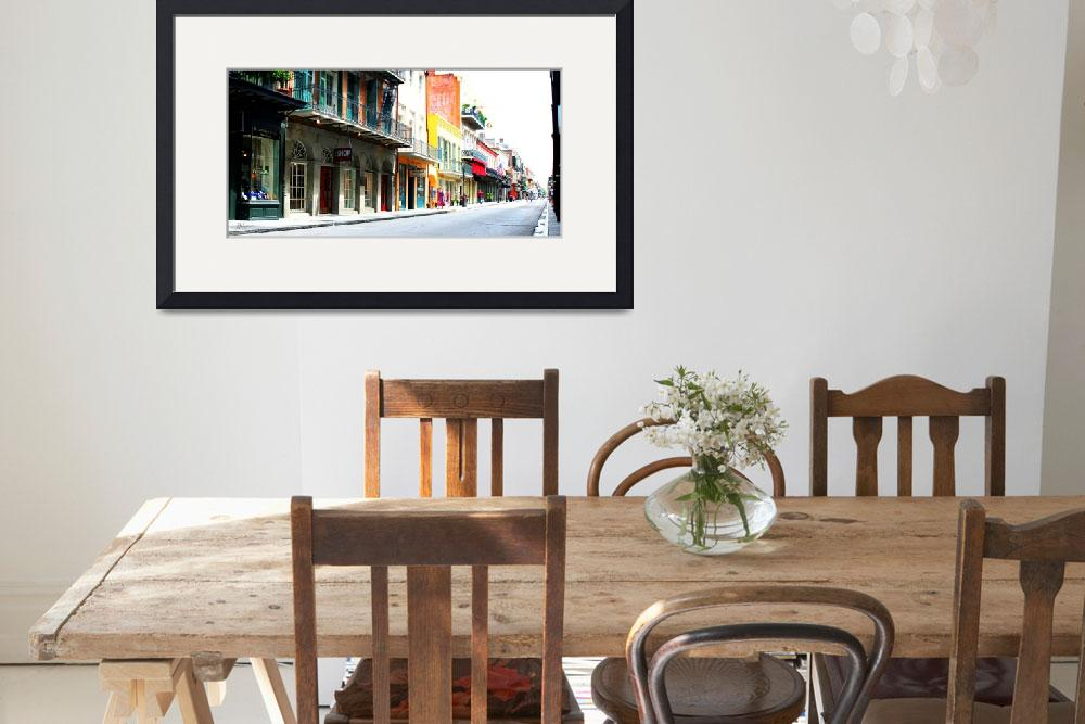 """French Quarter Shops Panoramic&quot  by kFergPhotos"