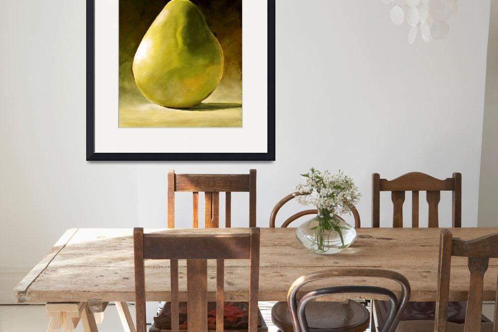 """GREEN PEAR STILL LIFE&quot  (2008) by ToniGrote"