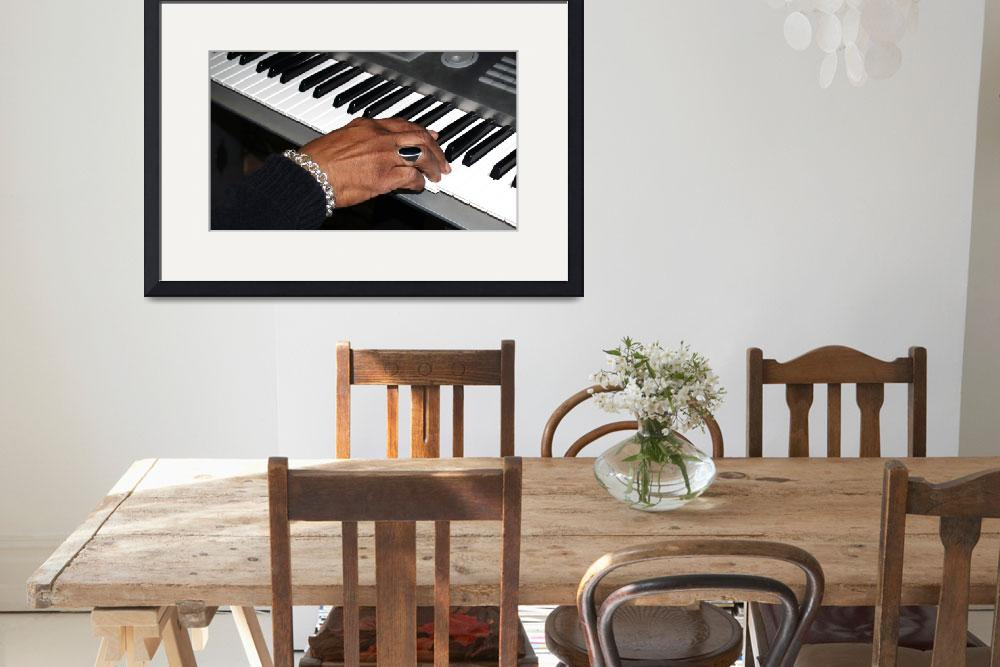 """Session Photo 1 Keyboard and Hand by Ginette&quot  (2010) by GinetteCallaway"